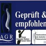 Auszeichnung der AGR ev Aktion-Gesunder-Rücken mit Zertifikat geprüfter zertifizierter Fachhändler für Büromöbel Bürostühle in Darmstadt