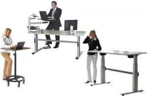 officeplus rolls desk  stehpulte ergon nachrüstbares steh-sitz-tischgestell
