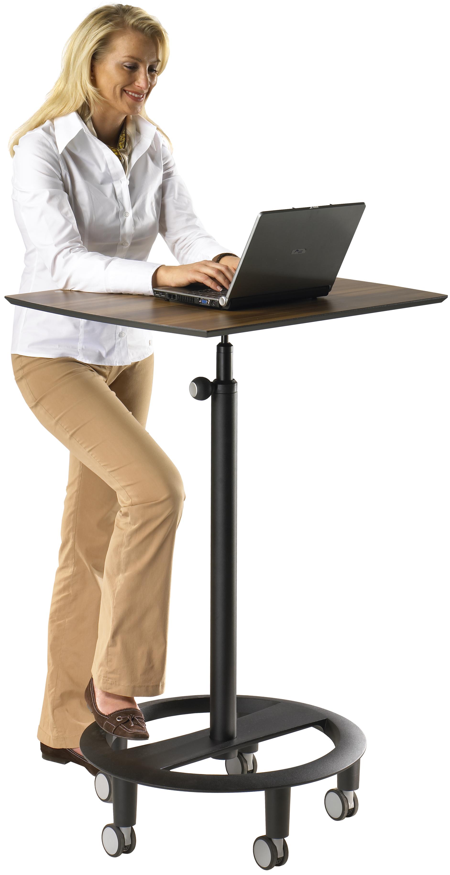 Testen Sie kostenlos Stehpulte Stehtische Stehhilfen - Laptoparbeit am rolls drive 3