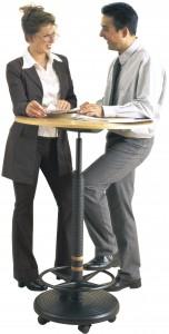 Stehpult rolls comfort plus schnell höhenverstellbar officeplus büro-ideen ausstellung testen anschauen