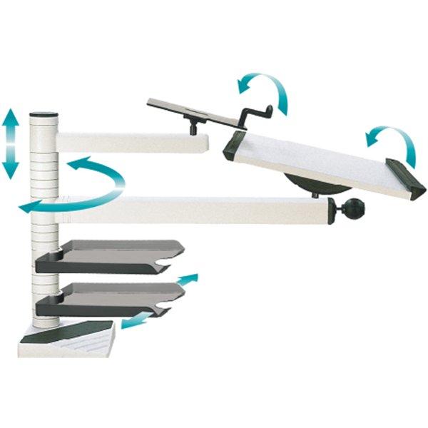 Stehpulte im Büro - tisch-stehpult Aufsatz für Schreibtisch desk-easy von officeplus bei büro-goertz darmstadt in der Ausstellung