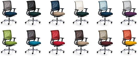 sedus netwin nw-100 Relaunch - Fünf neue Netzfarben, Membranfarben und Farbkombinationen