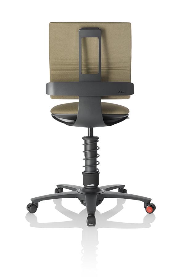 32_3Dee_caramel_alu_black_back schwarzes Gestell - 3Dee die geniale Kombination aus swopper und Bürostuhl
