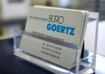 Büro-Goertz Visitenkarte hier D-Tec Pacific Garderoben Modelle ergänzt