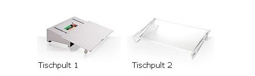 Tischpult1-und-Tischpult2zusammen officeplus Tischpulte / Vorlagenhalter / Dokumentenablage / Konzepthalter