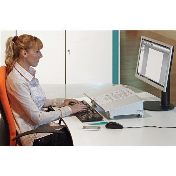 Testen Sie kostenlos Stehpulte Stehtische Stehhilfen - officeplus tischpulte tischpult-1 als Konzeptablage Konzepthalter