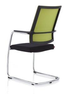 Köhl Anteo-Konferenzstühle Freischwinger-schwarz-gruen_MG_5051-300B