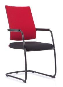 Köhl Anteo-Konferenzstühle Slim-Freischwinger-schwarz-rot_MG_5190-300H