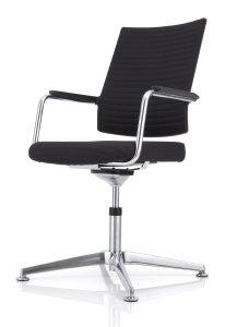 Köhl Anteo-Konferenzstühle Dreh-Konferenzsessel schwarz Tube-Polster _MG_5259-300