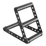 Fußstuetze schwarz für Stehpulte, Stehtische, Lifttische, Sitz-Steh-Tiche, Motortische