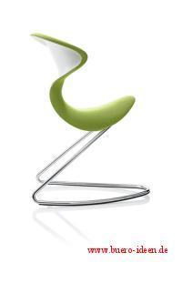 oyo - The Chair hier mit dem kiwi grünen Stoffbezug bei Büro-Goertz Darmstadt und bei www.buero-ideen.de