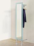 D-Tec Pacific Garderoben Modelle ergänzt - hier Pacific-502 satiniert Spiegelgarderobe mit großem Ganzkörperspiegel bei buero-ideen.de/webshop