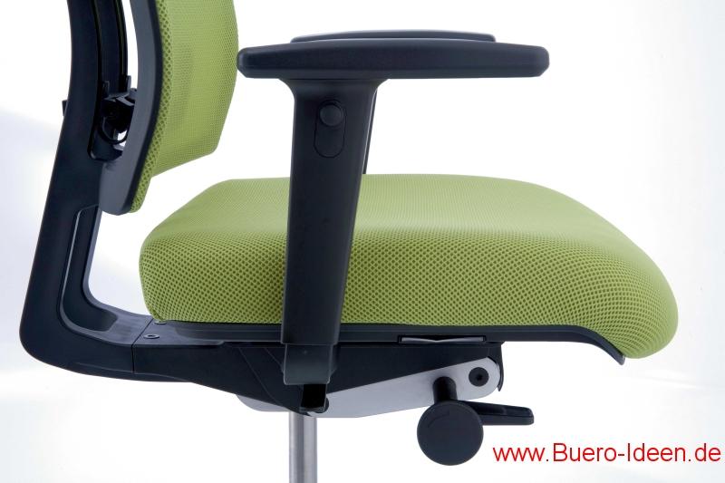 Verschiedene Armlehnen für Köhl-Bürostühle hier z.B. AL51 bei www.buero-ideen.de im webshop am Köhl-Anteo Drehstuhl