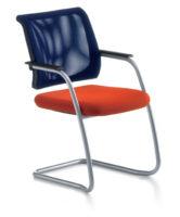 Der Blaue Engel für sedus netwin - hier sedus netwin Konferenzstuhl Freischwinger ergonomisch geformte Rückenlehne